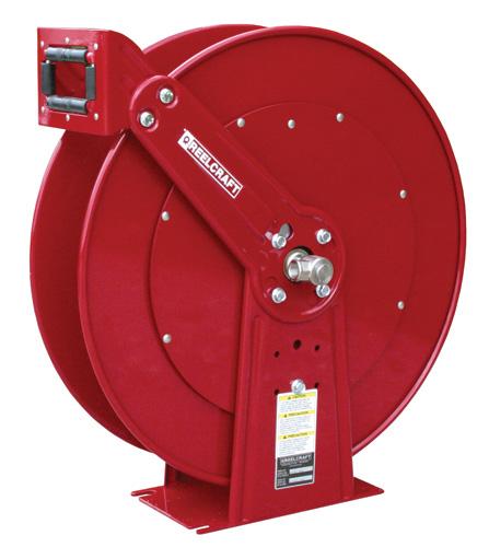 spring rewind hose reel for fuel and oil low pressure hose reel for