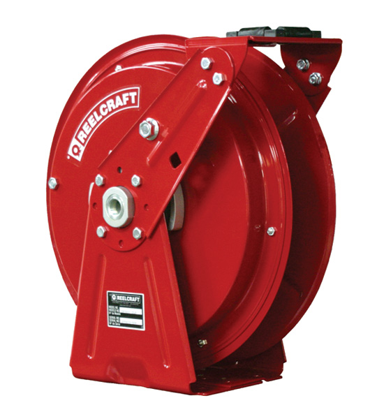 Reelcraft Heavy Duty Spring Retractable Hose Reel 1/2 x 50ft, 3250 psi