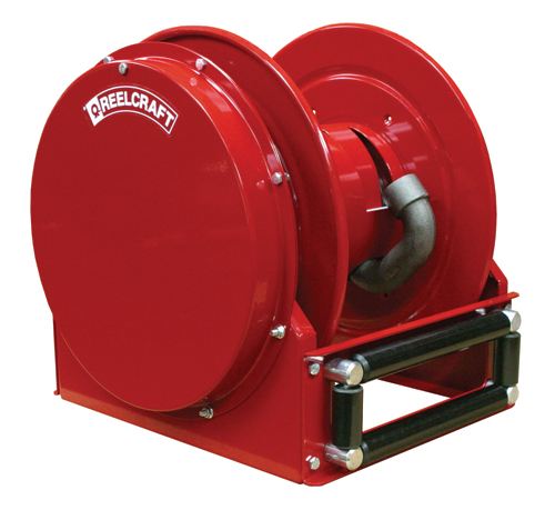 fuel hose 1 inch x 50 feet low profile hose reel for air water fuel or