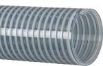 Clear PVC water suction hose assembly 3 inch I.D. X 15 Feet Long with Part C & E aluminum cam lock hose ends